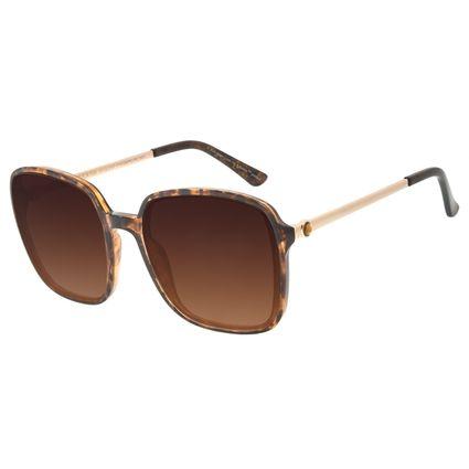Óculos de Sol Feminino The Beatles Quadrado Cristal Tartaruga OC.CL.3107-5706