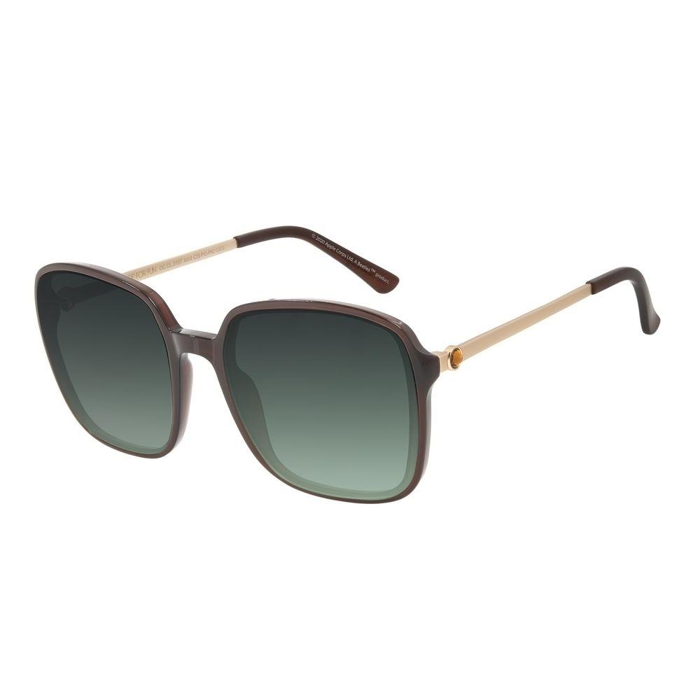 Óculos de Sol Feminino The Beatles Quadrado Cristal Degradê Verde OC.CL.3107-8202