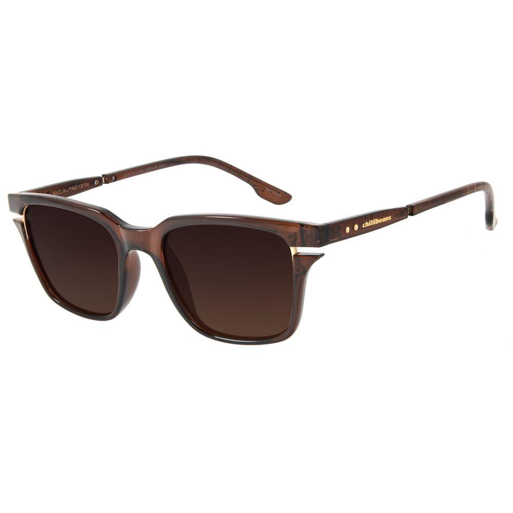 Óculos de Sol Masculino The Beatles Bossa Nova Hofner 500/1 Marrom .CL.3114-5702