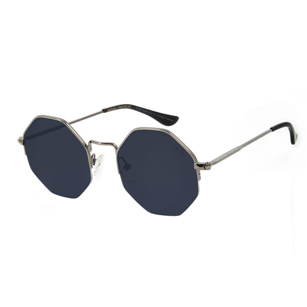 Óculos de Sol Feminino The Beatles Hexagonal Ônix OC.MT.2924-0522