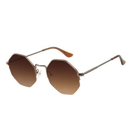 Óculos de Sol Feminino The Beatles Hexagonal Marrom OC.MT.2924-5702