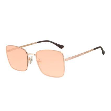 Óculos de Sol Feminino The Beatles Quadrado Dear Prudence Rosê OC.MT.2926-2395