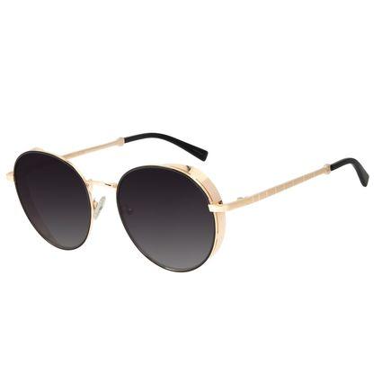 Óculos de Sol Feminino The Beatles Redondo Flap Dourado OC.MT.2928-2021