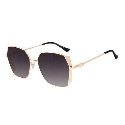 Óculos de Sol Feminino The Beatles Quadrado Diamonds Dourado OC.MT.2929-2021