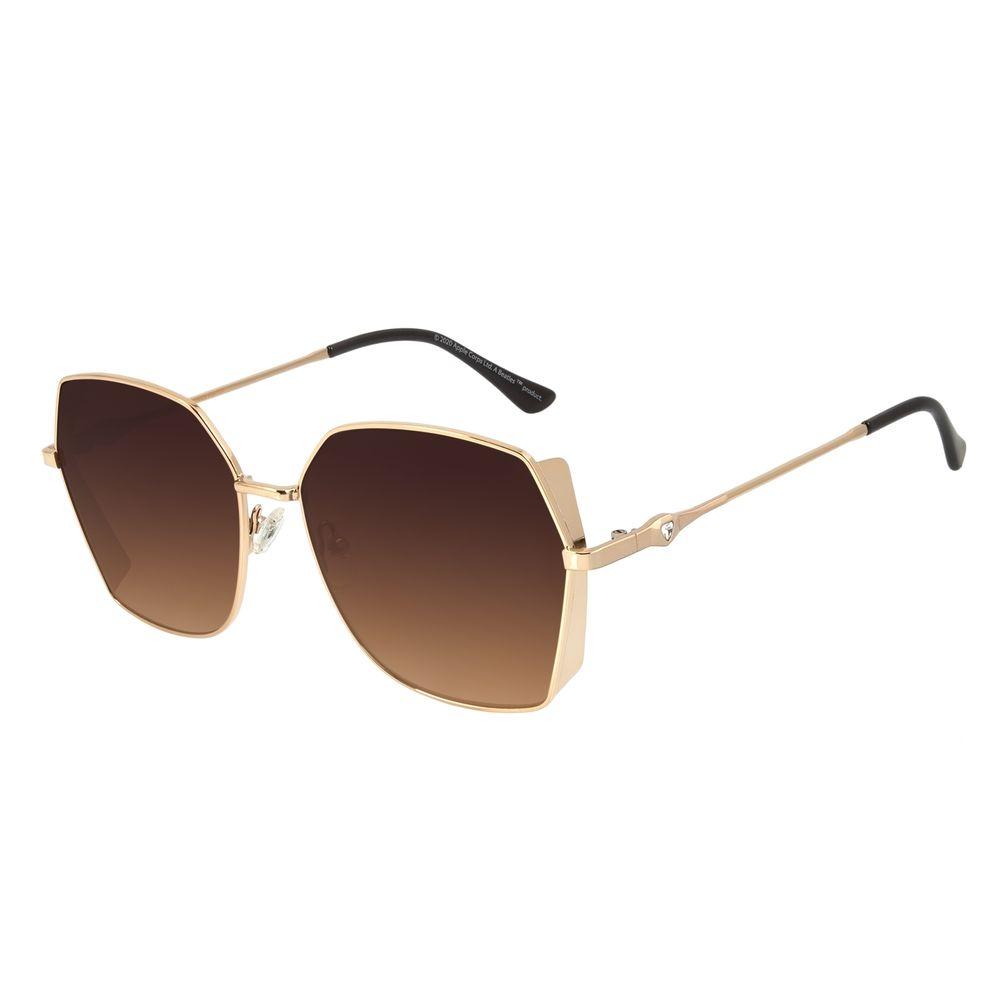 Óculos de Sol Feminino The Beatles Quadrado Diamonds Marrom .MT.2929-5702