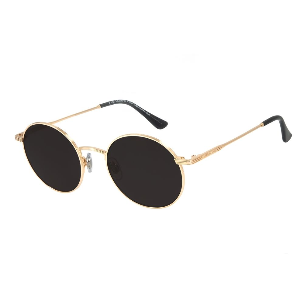 Óculos de Sol Unissex The Beatles Yellow Submarine Redondo Dourado OC.MT.2936-0121