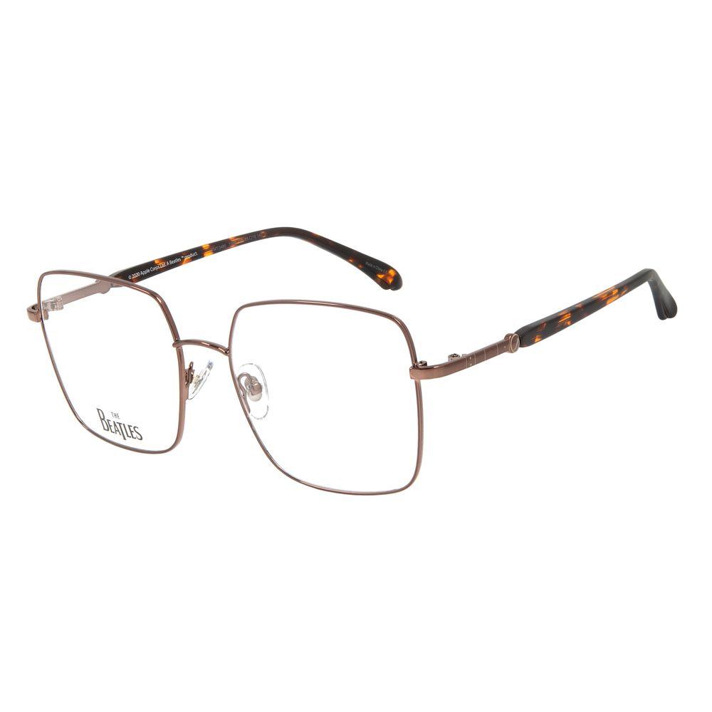 Armação Para Óculos de Grau Feminino The Beatles Harrison Quadrado Marrom LV.MT.0460-0202