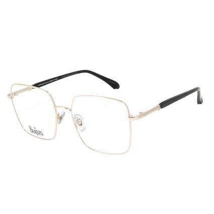 Armação Para Óculos de Grau Feminino The Beatles Harrison Quadrado Dourado Claro .MT.0460-6464