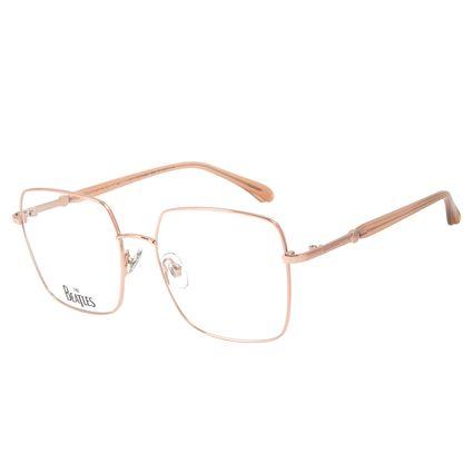 Armação Para Óculos de Grau Feminino The Beatles Harrison Quadrado Rosê LV.MT.0460-9595