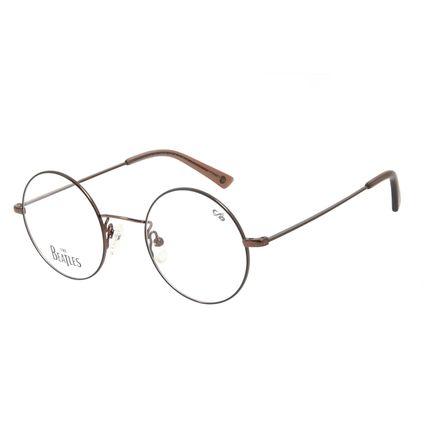 Armação Para Óculos de Grau Unissex The Beatles Let It Be Redondo Marrom LV.MT.0461-0202