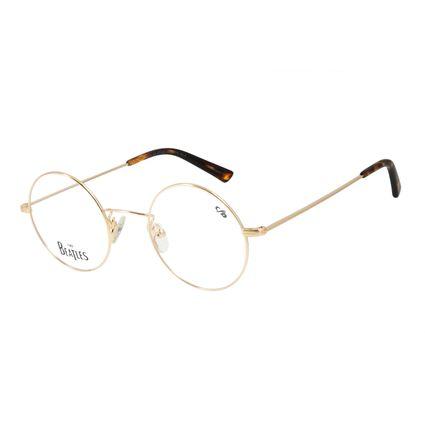 Armação Para Óculos de Grau Unissex The Beatles Let It Be Redondo Dourado LV.MT.0461-2121
