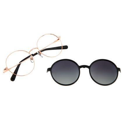 Armação Para Óculos de Grau Feminino The Beatles Across the Universe Multi Redondo Rosê LV.MU.0474-2095