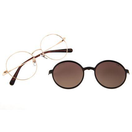 Armação Para Óculos de Grau Feminino The Beatles Across the Universe Multi Redondo Dourado LV.MU.0474-5721