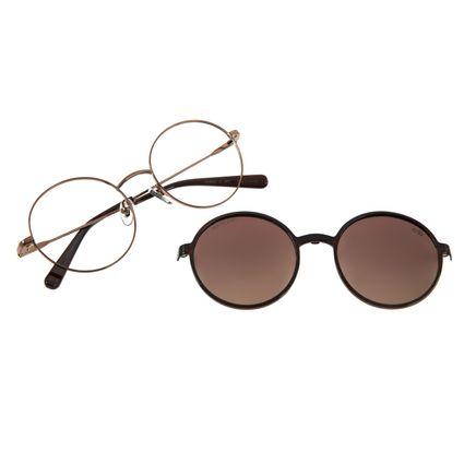 Armação Para Óculos de Grau Feminino The Beatles Across the Universe Multi Redondo Marrom LV.MU.0474-5702