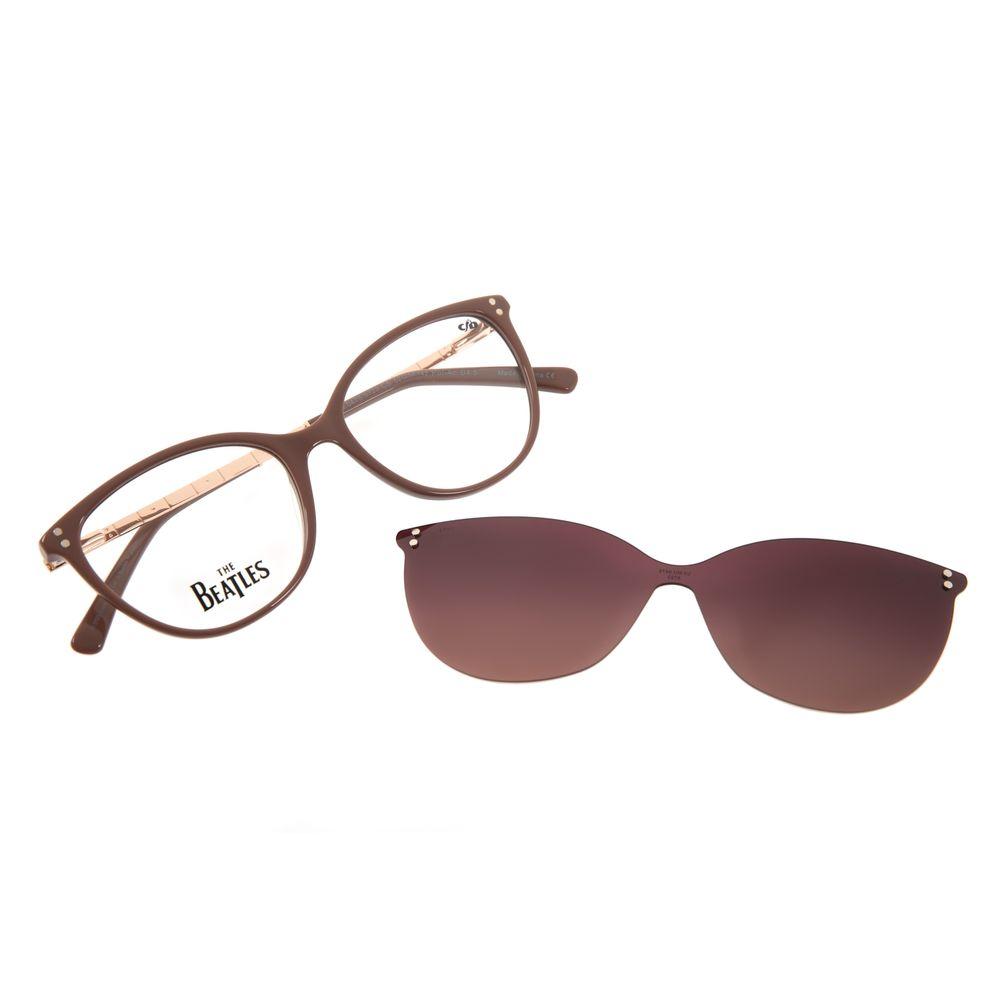Armação Para Óculos de Grau Feminino The Beatles Höfner Multi Bege LV.MU.0475-5723