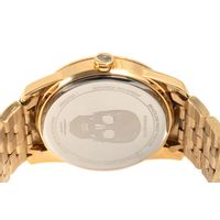 Relógio Analógico Masculino Alexandre Herchcovitch Caveira Metal Dourado .MT.0989-2121.6
