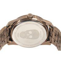 Relógio Analógico Masculino Alexandre Herchcovitch Caveira Metal Bege RE.MT.0989-2323.6