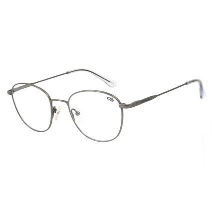 Armação Para Óculos de Grau Unissex Chilli Beans Redondo Titânio Grafite LV.MT.0375-2424