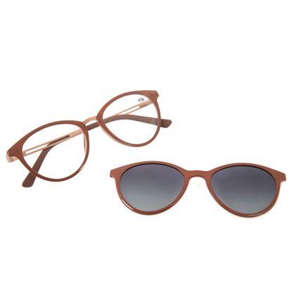 Armação Para Óculos de Grau Feminino Chilli Beans Multi Bege Polarizado LV.MU.0167-2023