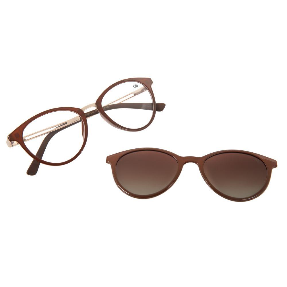 Armação Para Óculos de Grau Feminino Chilli Beans Multi Marrom Polarizado LV.MU.0167-5702