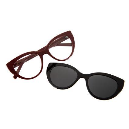 Armação Para Óculos de Grau Feminino Chilli Beans Multi Vinho LV.MU.0228-0117