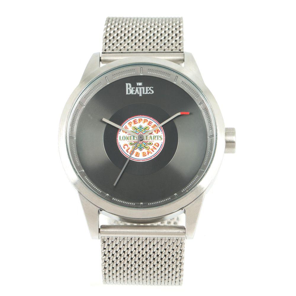 Relógio Analógico Masculino The Beatles Vinil Sgt Prata RE.MT.1127-0107