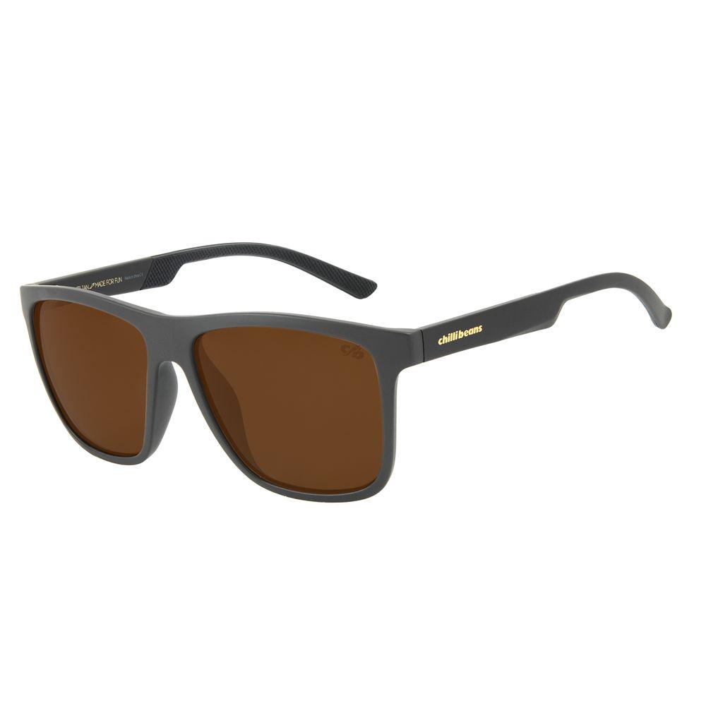 Óculos de Sol Masculino Chilli Beans New Sport Polarizado Marrom OC.ES.1230-0202