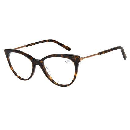 Armação Para Óculos de Grau Feminino Lady Like Gatinho Tartaruga LV.MU.0226-1506.2
