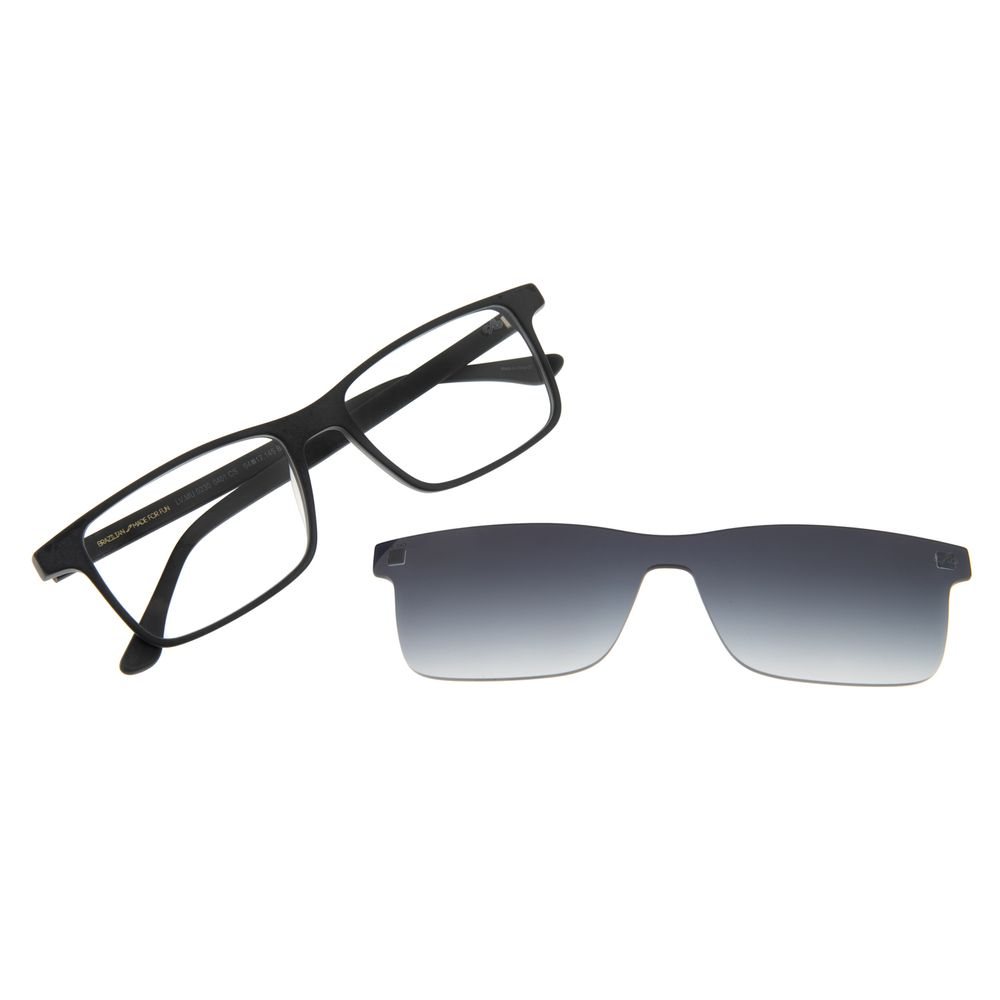 Armação Para Óculos de Grau Masculino Chilli Beans Multi Retangular Preto LV.MU.0230-0401
