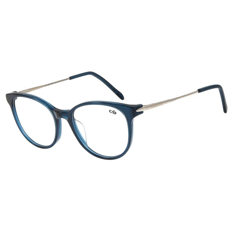 Armação Para Óculos de Grau Feminino Chilli Beans Redondo Azul LV.AC.0598-0807