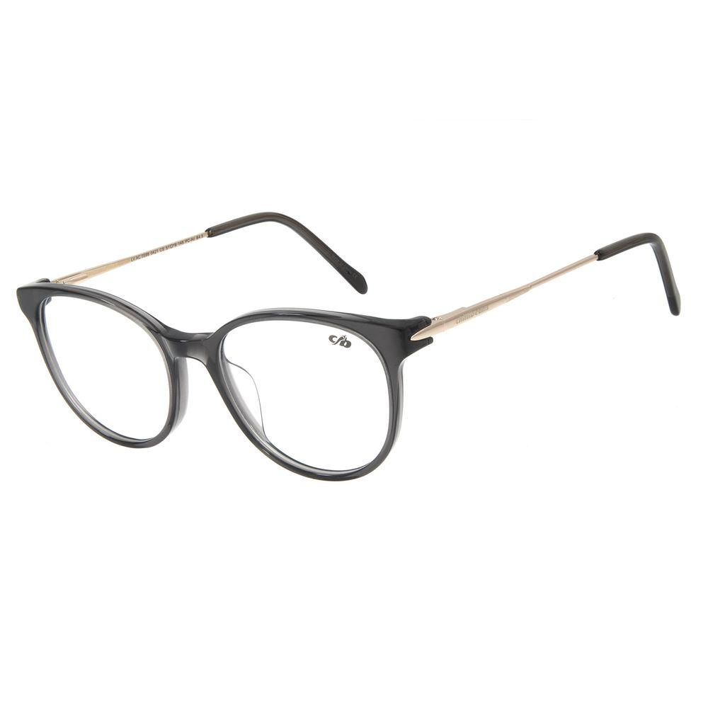 Armação Para Óculos de Grau Feminino Chilli Beans Redondo Cinza LV.AC.0598-0421