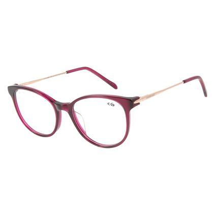 Armação Para Óculos de Grau Feminino Chilli Beans Redondo Roxo LV.AC.0598-1495