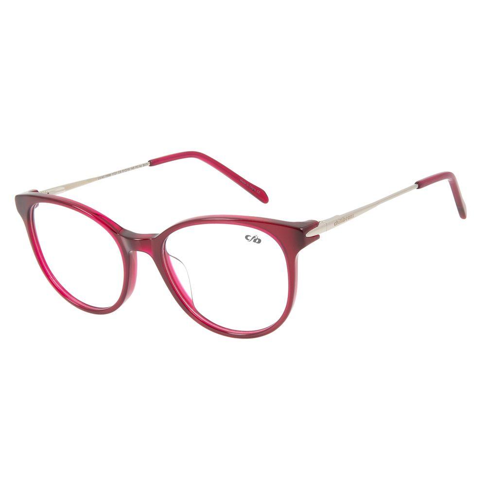 Armação Para Óculos de Grau Feminino Chilli Beans Redondo Vinho LV.AC.0598-1721