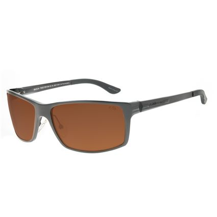 Óculos de Sol Masculino Chilli Beans Esportivo Marrom Polarizado OC.AL.0221-0201