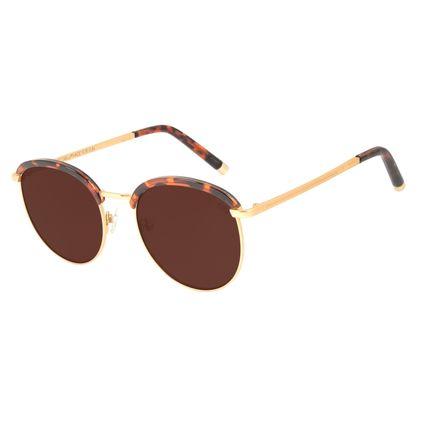 Óculos de Sol Feminino The Beatles Redondo Dourado Banhado A Ouro OC.CL.3101-0221
