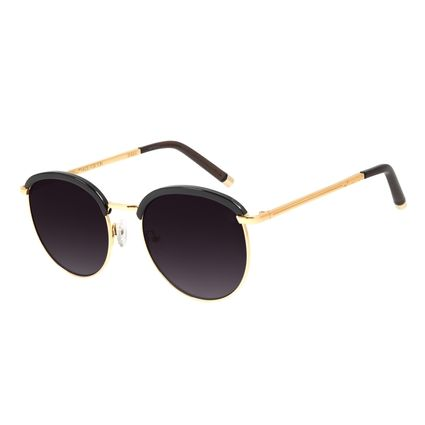 Óculos de Sol Feminino The Beatles Redondo Degradê Banhado A Ouro OC.CL.3101-2021