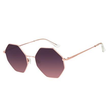 Óculos de Sol Feminino Chilli Beans Hexagonal Rosê OC.MT.2879-1495