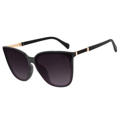 Óculos de Sol Feminino Chilli Beans Quadrado Preto OC.CL.3076-2001