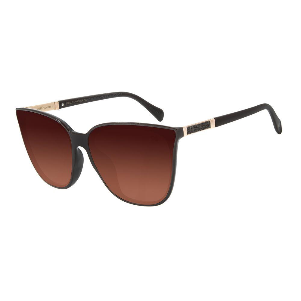 Óculos de Sol Feminino Chilli Beans Quadrado Marrom OC.CL.3076-5702