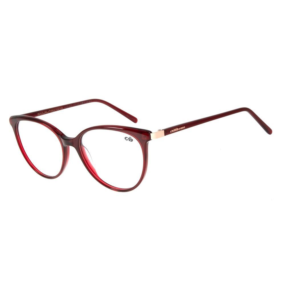 Armação Para Óculos de Grau Feminino Chilli Beans Redondo Vinho LV.AC.0622-1717