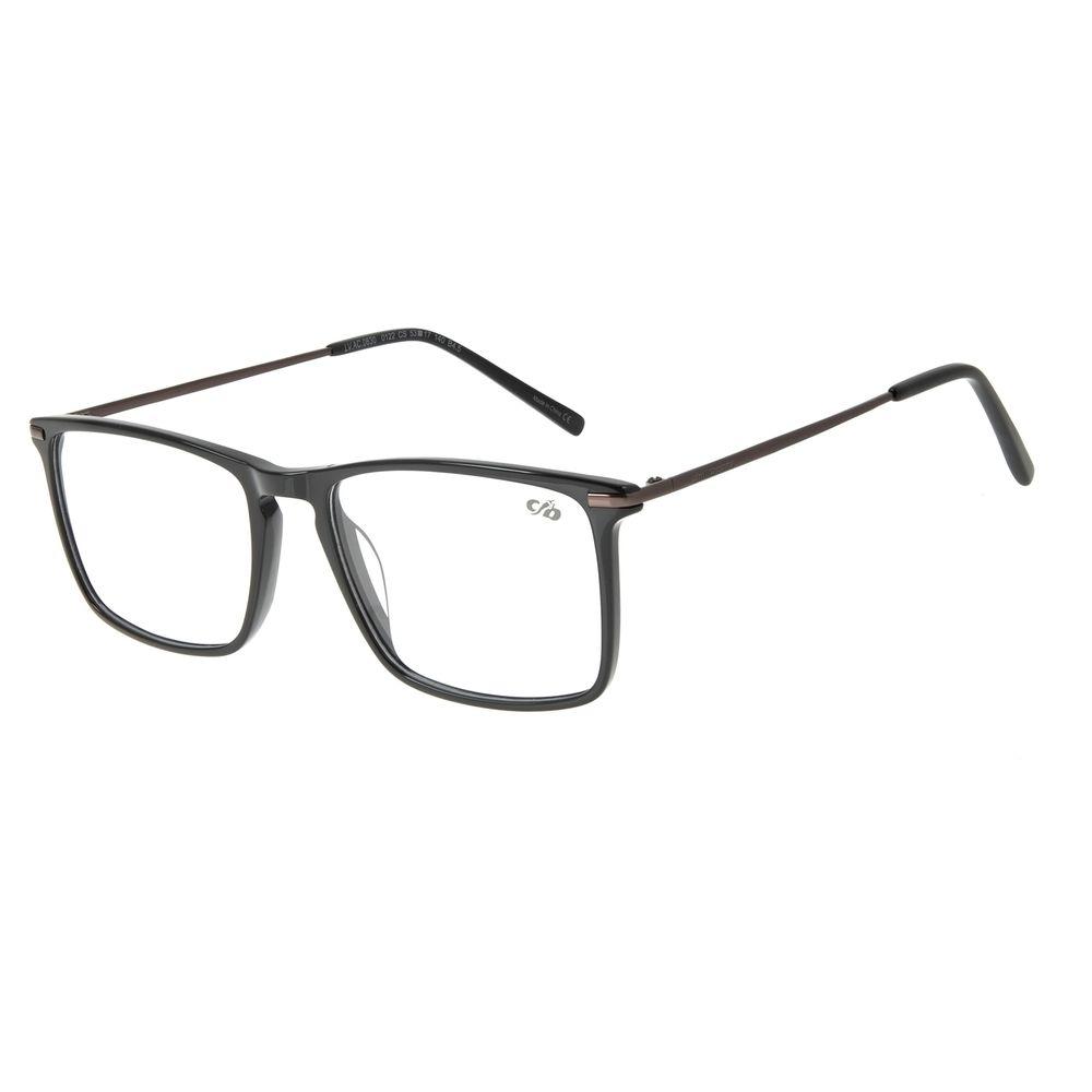 Armação para Óculos de Grau Masculino Chilli Beans Retangular Ônix LV.AC.0630-0122