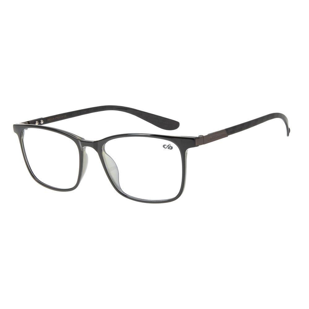Armação para Óculos de Grau Masculino Chilli Beans Quadrado Preto LV.IJ.0161-0101