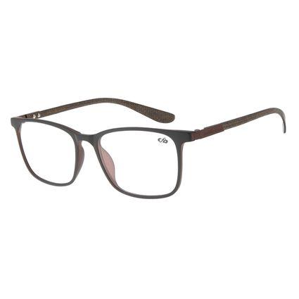 Armação para Óculos de Grau Masculino Chilli Beans Quadrado marrom LV.IJ.0161-0202