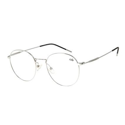 Armação para Óculos de Grau Feminino Chilli Beans Redondo Prata LV.MT.0399-0707