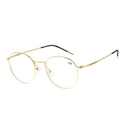 Armação para Óculos de Grau Feminino Chilli Beans Redondo Dourado LV.MT.0399-2121