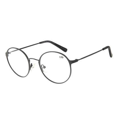 Armação para Óculos de Grau Unissex Chilli Beans Redondo Preto LV.MT.0409-0101