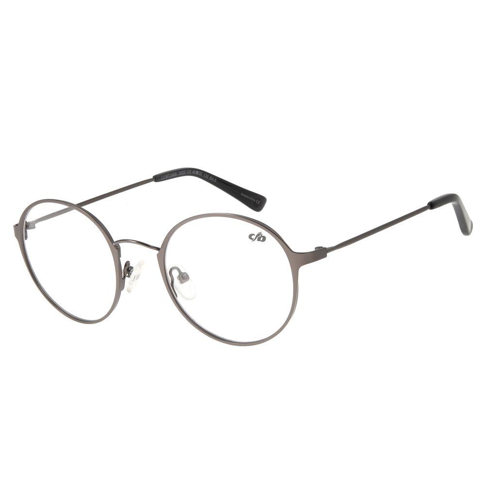 Armação para Óculos de Grau Unissex Chilli Beans Redondo Prata LV.MT.0409-2222