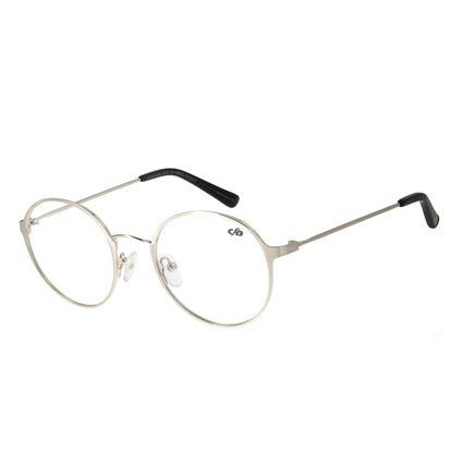 Armação para Óculos de Grau Unissex Chilli Beans Redondo Prata LV.MT.0409-0707