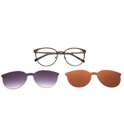 Armação Para Óculos de Grau Feminino Chilli Beans Redondo Multi Fosco LV.MU.0271-0231