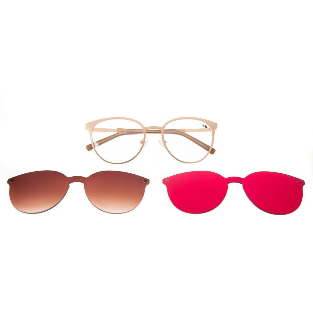 Armação Para Óculos de Grau Feminino Chilli Beans Redondo Multi Rose LV.MU.0271-5795